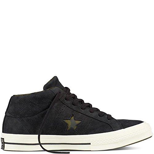 Converse Unisex Adults Lifestyle One Star Mid Nubuck Fitness Shoes Green HerbalCollardBlack 342 95 UK