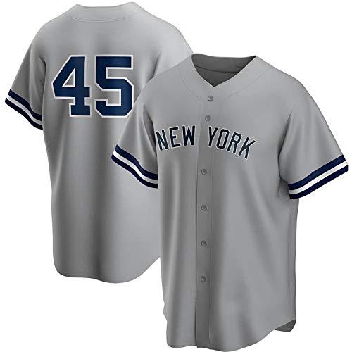 JMING Camiseta De Béisbo, Yankees #45 24#2 Jeter #99 Judge,Camiseta De Béisbol De élite De Manga Corta para Hombres Uniforme Equipo con Botones Jerseys (M,A11)