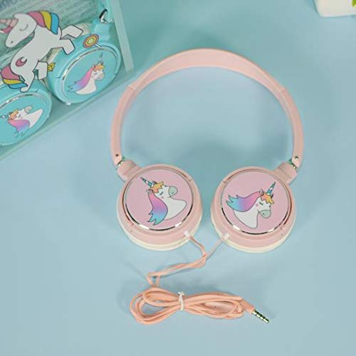 INFInxt Unicorn Wired Headphones with Adjustable Headband, 3.5 mm Jack and Tangle-Free Cord, Over On Ear Headset for Girls/Birthday Gifts/Unicorn Gift (Random Color)