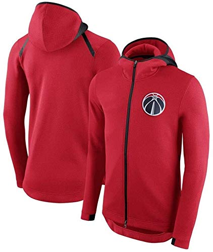 ZSPSHOP Chaqueta de baloncesto con capucha para hombre NBA Bulls/Warriors/Spurs con cremallera para entrenamiento (color: C, tamaño: XL)