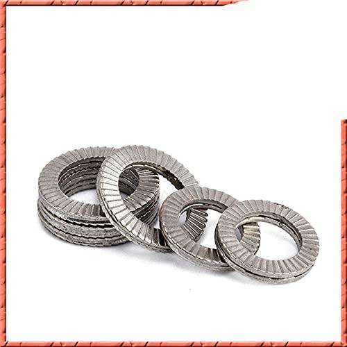 2-50 pezzi DIN25201 Acciaio inossidabile NL3-NL52/4-24SP 3/8 due volte autobloccante Rondella combinata Rondella antiritorno-SS316, NL8 SP (50PCS)