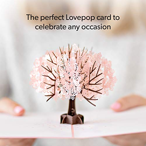 Lovepop Cherry Blossom Pop Up Card - 3D Card, Mother�s Day Card, Pop Up Mother's Day Call, Card for Wife, Card for Mom, Anniversary Pop Up Card, Spring Card, Greeting Card Pop Up, Pop Up Birthday Card Photo #6