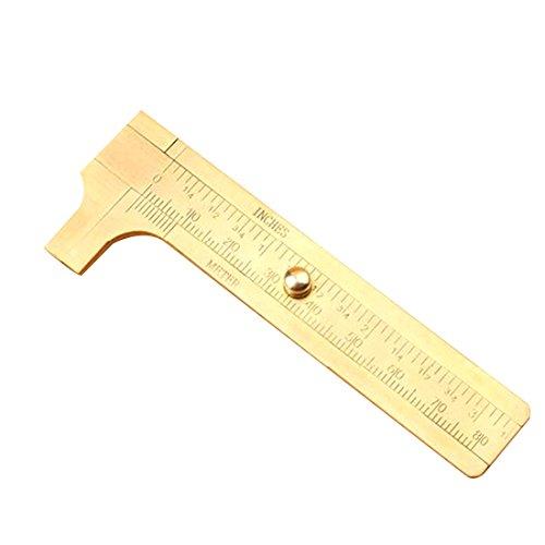 rongwen Mini aus massivem Messing Schieblehre Schieblehre 80mm 3.15inch Schmuck Mess Doppelskala