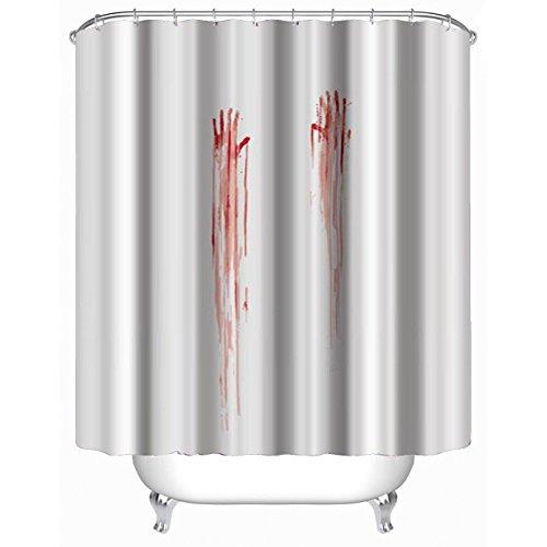 GYMNLJY Halloween rot Fingerabdrücke Dusche Vorhang Polyester Blackout Bad Dusche Rollo für Badewanne 180 * 180cm , 180cmx180cm