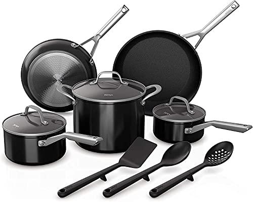 Ninja Foodi NeverStick 11-Piece Cookware Set, Guaranteed To Never Stick, C19600