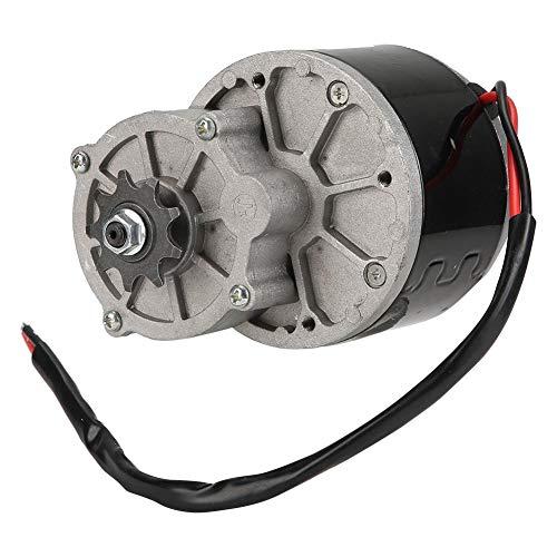 Motor eléctrico de reducción de engranajes, motor eléctrico de reducción de 12V 250W con placa triangular Cepillado de motores de CC Reductor para E-bike Scooter