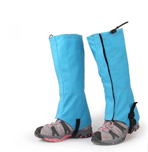 PRIMI Skifahren Wandern Jagd Wasserdicht Ski Schnee Gamaschen (Sky Blau L)