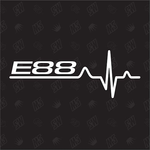 speedwerk-motorwear E88 Herzschlag - Sticker für BMW, Tuning Fan Aufkleber