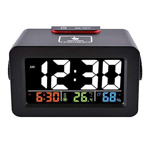 BAIYI thermometer kleurenscherm elektronische klok creatieve thermometer en hygrometer wekker met USB-klok