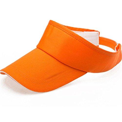 Baseball Dasongff dasongff Hommes Femmes Été Visor Sun Plain Hat Cap sans limite Capuchon solaire Soleil huete Plage Soleil casquettes Casquette, Orange