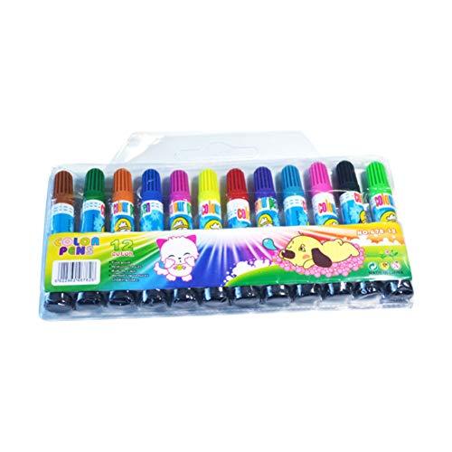 12Couleurs Peinture stylos marqueurs permanents stylos à peinture à base d'eau Fonctionne sur la plupart des surfaces en verre, bois, métal, caoutchouc, Rocks, pierre, arts & Crafts Lot de 12