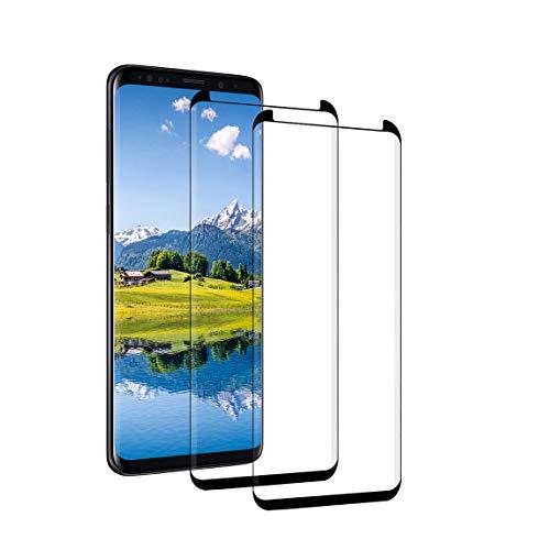 Panzerglas für Samsung Galaxy S8 3D Vollständige Abdeckung Panzerglasfolie mit Samsung S8 Folie 9H Härte Anti-Kratzen Blasenfre HD Displayschutzfolie Display Schutzfolie für Galaxy S8 [2 Stück]