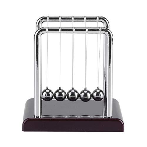 N-B Bola de Billar de Equilibrio de Cuna en Forma de S clásica de Newton, decoración de Bolas múltiples, decoración de Juguete de Mesa de péndulo de Ciencia para el hogar y la Oficina