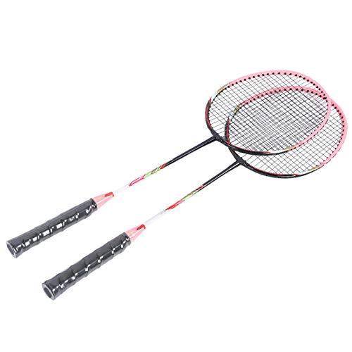 Demeras M ‑ 70 Sport Badminton Racket Sport Badminton Training Equipment Alta disponibilidad Exquisita Mano de Obra Alta Estabilidad para Deportes y Fitness(Pink)