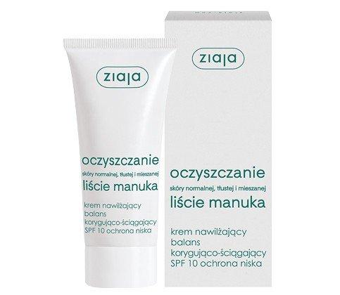 Feuchtigkeitspflege creme mit ausgleichent-adstringiernd Effekt von Manu Blätter-Extrakt SPF10 50ml von Ziaja