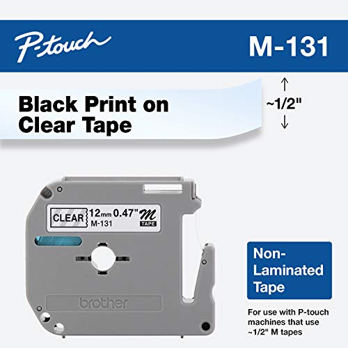Brother Genuine P-touch M-131 Tape, 1/2