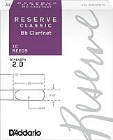 D'Addario リード レゼルヴ クラッシック Bクラリネット 強度:2.0(10枚入)ファイルドカット DCT1020
