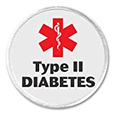 Type II (2) Diabetes Medical Alert 3' Sew On Patch Diabetic Health Symbol Sign
