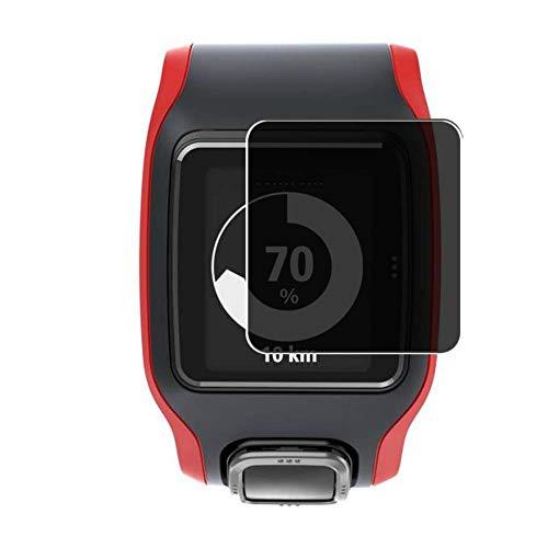Vaxson TPU Pellicola Privacy, compatibile con TomTom Multi-Sport Cardio, Screen Protector Film Filtro Privacy [ Non Vetro Temperato ]