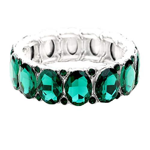 Schmuckanthony Hoernel Glamour Parure de mari/ée en argent avec collier bracelet et boucles doreilles Bleu roi