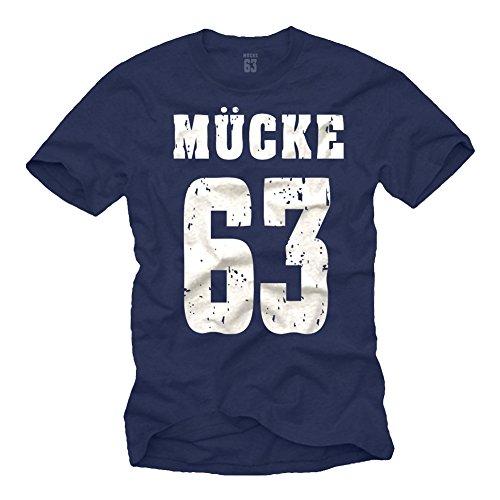 Coole Spencer T-Shirts dunkelblau MÜCKE 63 T-Shirt Größe XXL
