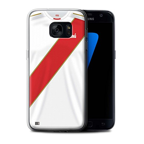 Stuff4® ® Phone Case/Cover/Skin/SG7 de GC/World Cup 2018 Football Camiseta Collection Peru/Peruaner
