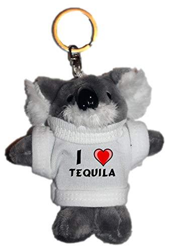 Shopzeus Coala de Peluche (Llavero) con Amo Tequila en la Camiseta (Nombre de Pila/Apellido/Apodo)