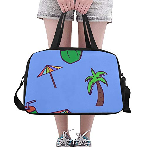 N\A Women Shoulder Bags Sweet Seaside Summer Coconut Juice Yoga Gym Totes Fitness Handbags Duffel Bags Shoe Pouch For Sport Luggage Womens Outdoor Tote Travel Bag
