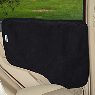 NAC&ZAC Waterproof Pet Car Door Cover -Two Options to Install. Fit All Vehicles.