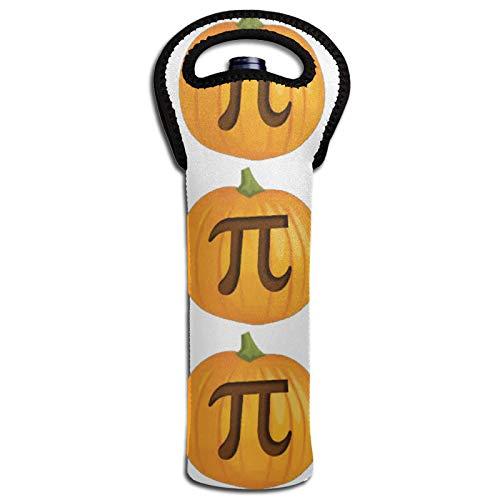Lustige Halloween-Isoliertaschen für Kürbispie Pie Pi, Wein, Thermoisolierung, Flaschendeckel, Kühltasche, Tragetasche
