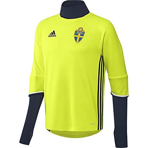 adidas Herren SVFF Schweden Trainingsoberteil - gelb Trikot, SYELLO/Conavy, S