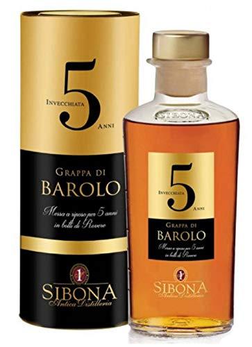 Antica Distilleria Sibona Grappa di Barolo 5 anni 44% vol (1 x 0,5l)