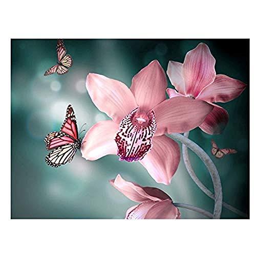 nobrand Puzzle 1000 Teile Puzzles für Erwachsene 1000 Stück Holz Orchideen & Schmetterlinge DIY Home Decor Puzzle Erwachsene Kinder Geschenk Spielzeug Spiel-70X50cm