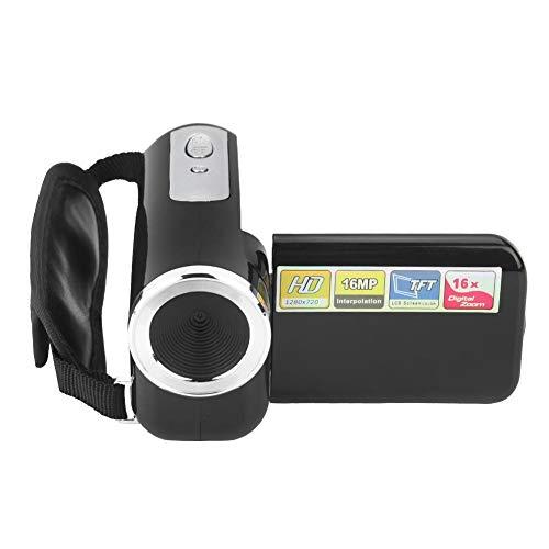 Hopcd Mini DV de Regalo para niños, videocámara con cámara de Video Digital HD de 16X, Pantalla LCD TFT LCD de 2 Pulgadas USB 2.0 Video-AVI/Photo-JPEG Vlogging Camera para cumpleaños, Navidad(Negro)