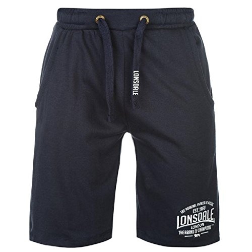 Lonsdale Mens Box Lightweight Shorts Pants Bottoms Boxing Sports Clothing Navy Large