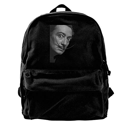 Yuanmeiju Canvas Backpack Cool Funny Salvador DALI Movie Poster Cool Poster Ideal Gift Birthday Present Rucksack Gym Hiking Laptop Shoulder Bag Daypack for Men Women