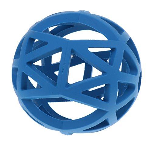 Hund Gitterball Hundespielzeug Vollgummi Spielzeug Kauspielzeug Gummiball für Hunde - Blau - L