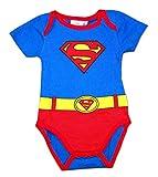 Body Traje Superman (Azul y Rojo, 12 Meses)