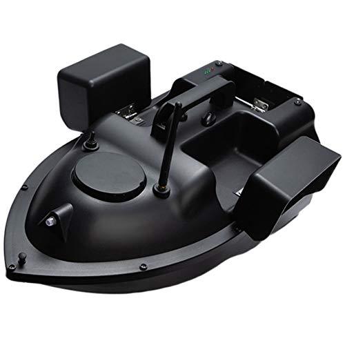 HENGGE RC Bait Boat, Remote Control Fishing Boat, GPS Positioning Remote Control 500M Bait Boat with LED Night Light,Black,GPS 12000MAH