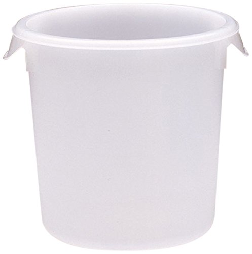 Rubbermaid Commercial Products FG572400WHT Round Storage Container, 8 Quart Capacity (Pack of 12)
