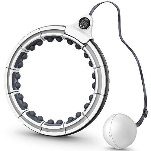 Hula Hoop Reifen, Smart Gewichtsverlust Hula Hoop mit Massagenoppen Intelligentes Zählen Einstellbare GrößE Gewichtet Upgraded Hullahub Reifen für Kinder Erwachsene für Sport/Zuhause/BüRo/Bauchformung