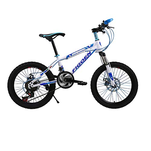 Zlolia Adult Mountain Bikes 20 Inch Mountain Trail Bike High Carbon Steel Full Suspension Frame Folding Bicycles 6 Spoke 21 Speed Gears Dual Disc Brakes Mountain Bicycle