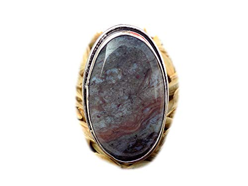 The Best Jewellery Crazy Lace Agate Ring, Silver Plated Ring, Handmade Ring, Women Jewelry, (Size- 9 USA) BRS-11118
