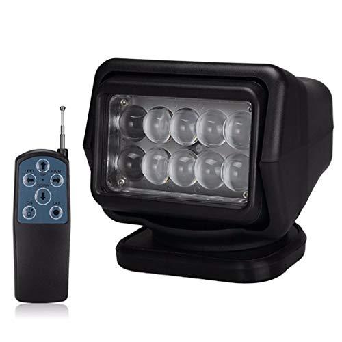 7 inch LED-afstandsbediening draadloze spotlight LED zoeklicht voor de visserij off-road jacht boot verlichting werklamp,Black