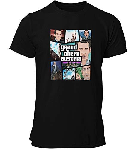 T Shirt: GTA Österreich/Grand Theft Austria. Politische Parodie. (s, schwarz)