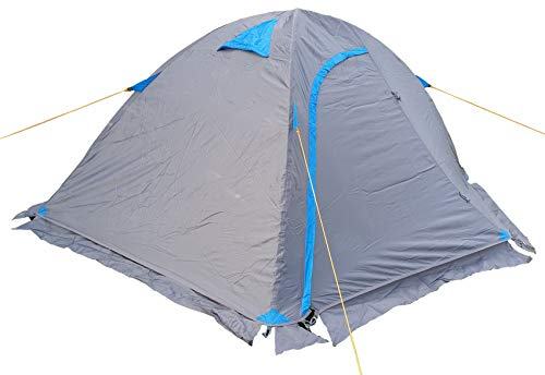 Selltex Kuppelzelt grau blau Iglu 1-2 Personen Festival Camping Biker Motorrad Zelt Outdoor 210x140x110cm (LxBxH)