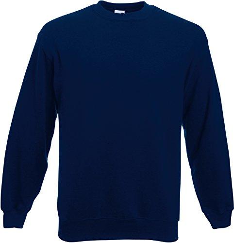 Fruit of the Loom Herren Set-In Sweat Sweatshirt, Blau (Navy 200), Large
