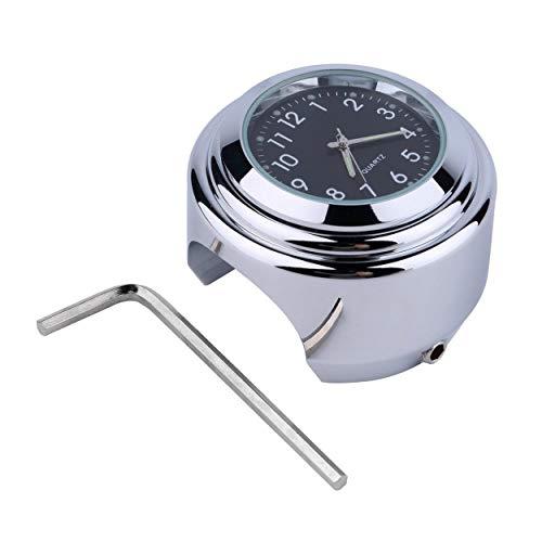 Lorenlli Moto Impermeable Moto Manillar Montaje Redondo Reloj Reloj Accesorio Universal Manillar Montaje Reloj