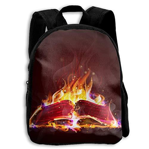 ADGBag Originality Blaze Book Children's Backpack Kids School Bag with Adjustable Shoulders Ergonomic Back Pad Perfect for School Security Sporting Events Mochila para niños