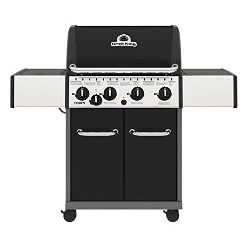 Broil King Crown 440 Gas Barbecue, Black, 135x58x117 cm